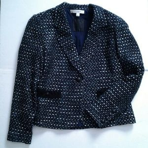 Blue Tweed Jacket Liz Claiborne size 14